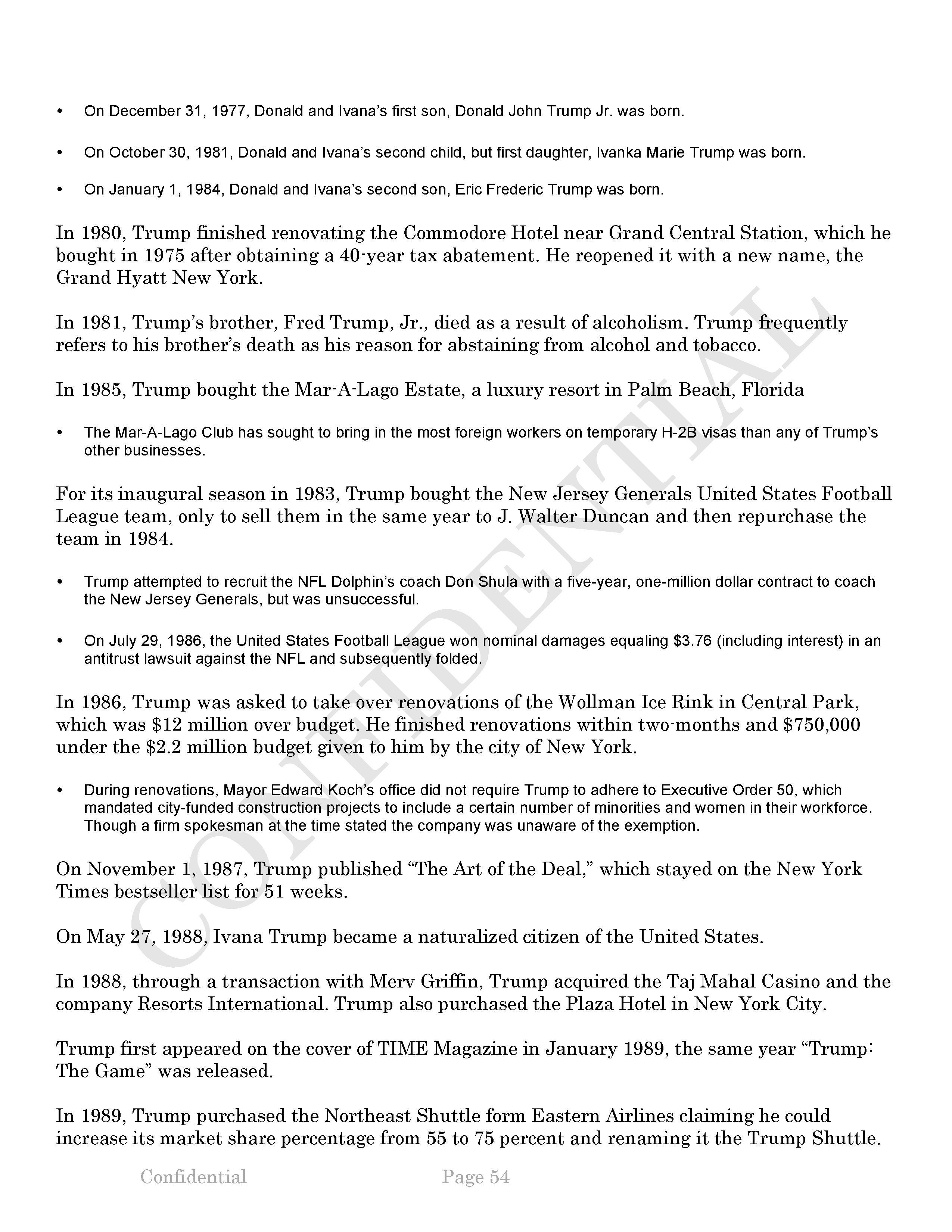 Donald Trump Report-DNC
