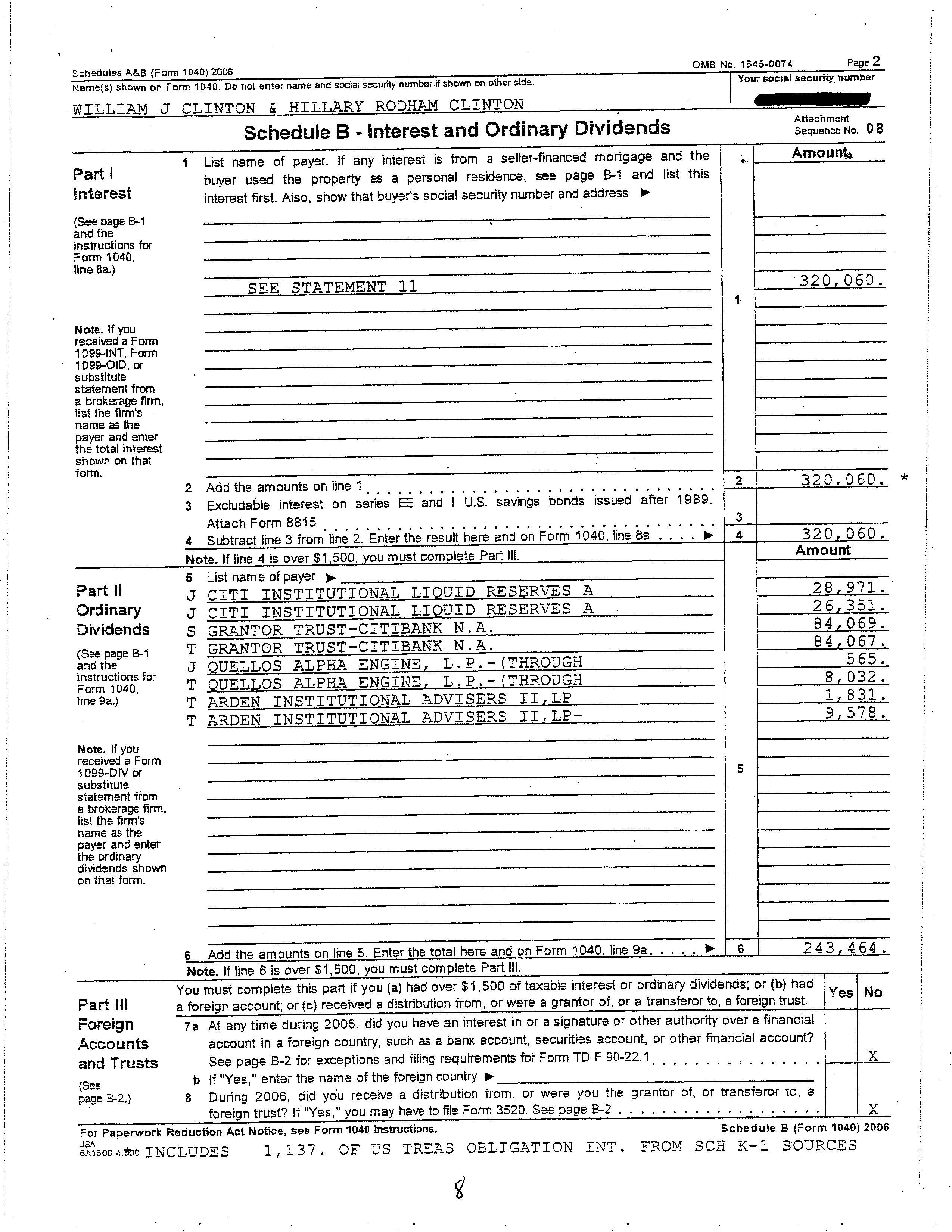 2006 Us Individual Income Tax Return