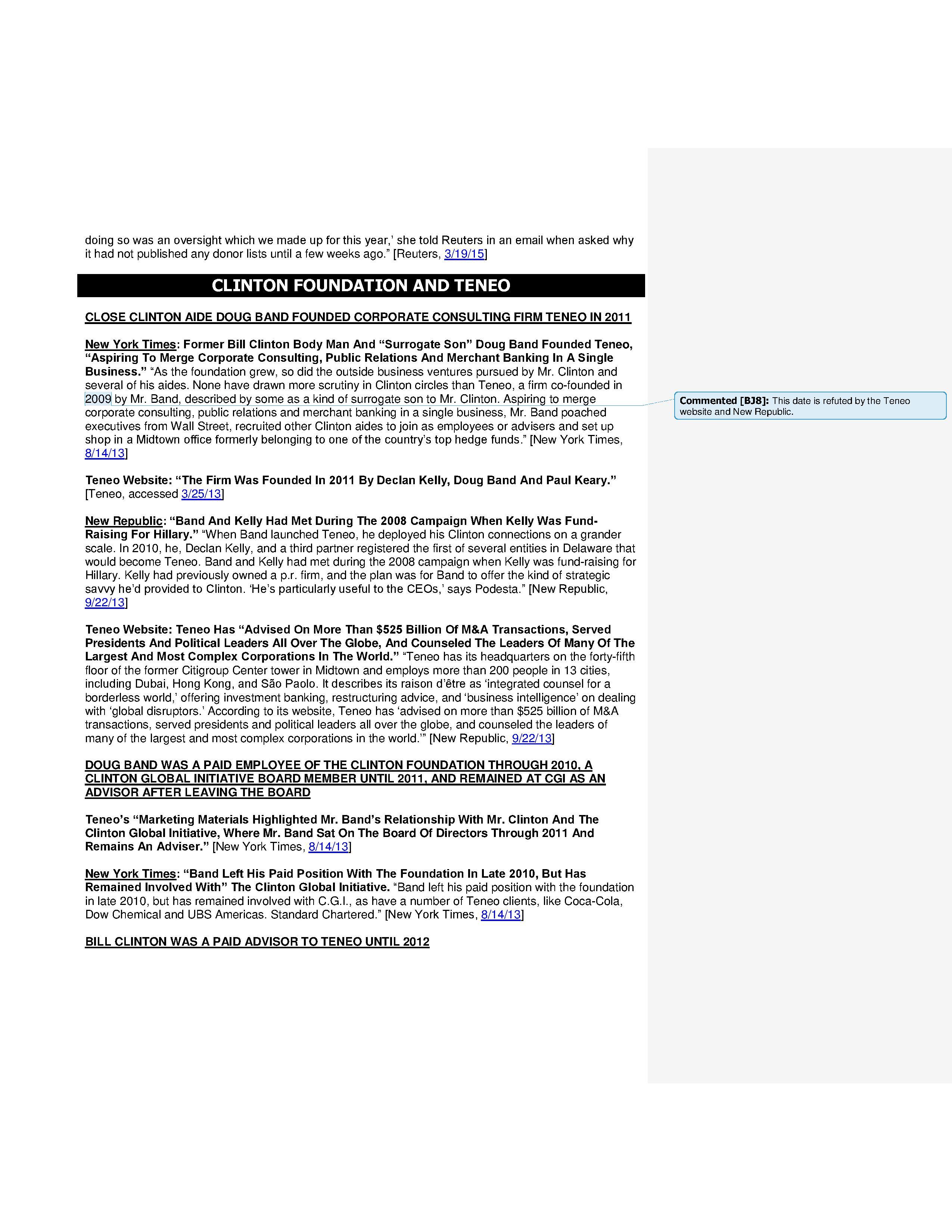 Clinton Foundation Vulnerabilities Master Doc part 1 JB edits