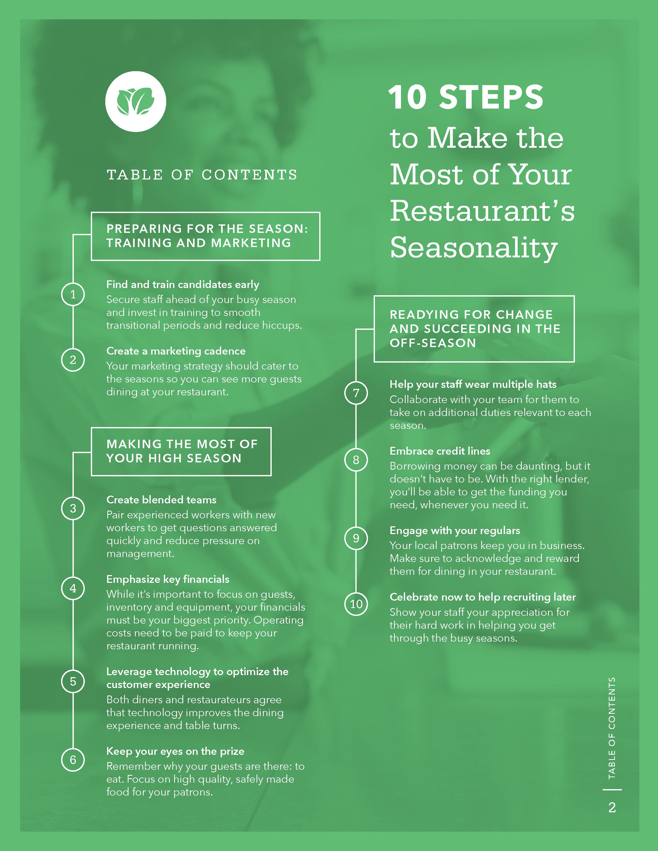 10 Steps to Make the Most of Your Restaurant's Seasonality
