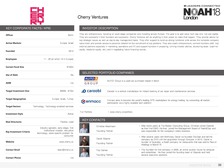 NOAH18 London Investor Book - 36/174 — NOAH Conference