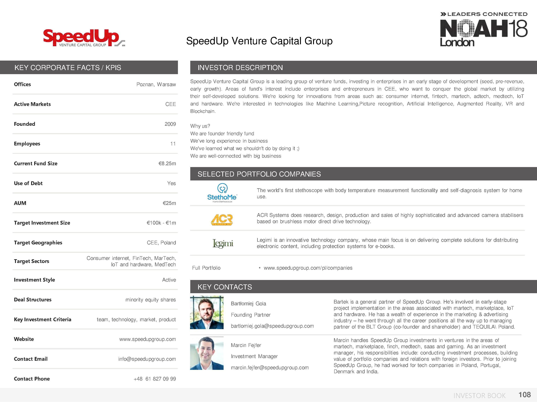 NOAH18 London Investor Book - 109/174 — NOAH Conference